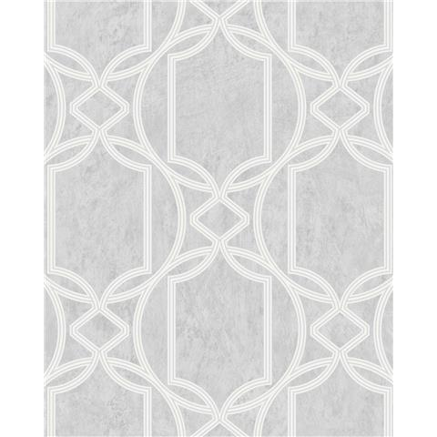 Tranquillity Deco Geometric Wallpaper by Boutique 106683 Dove Grey