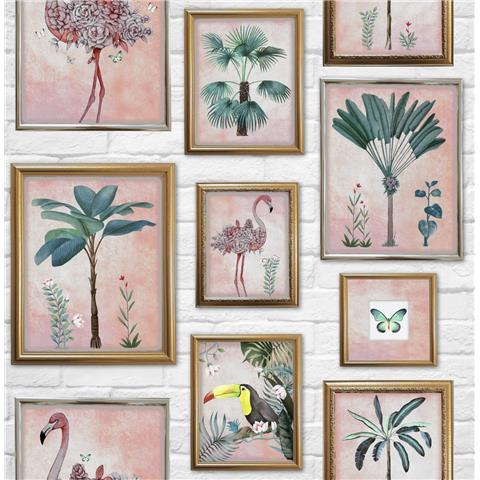 Graham and Brown Fresco Wallpaper Tropical frames 106946