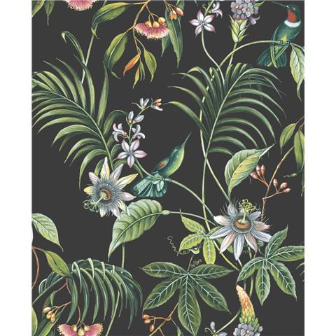 Graham and Brown Adilah Wallpaper 106976 Navy/Multi