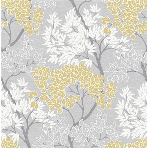 Graham and Brown Fresca Wallpaper lykke tree 107746 ochre