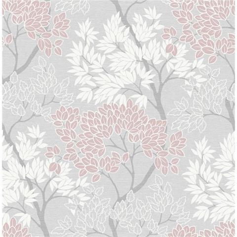 Graham and Brown Fresca Wallpaper lykke tree 107971 pink