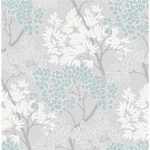 Graham and Brown Fresca Wallpaper lykke tree 107972 sky blue