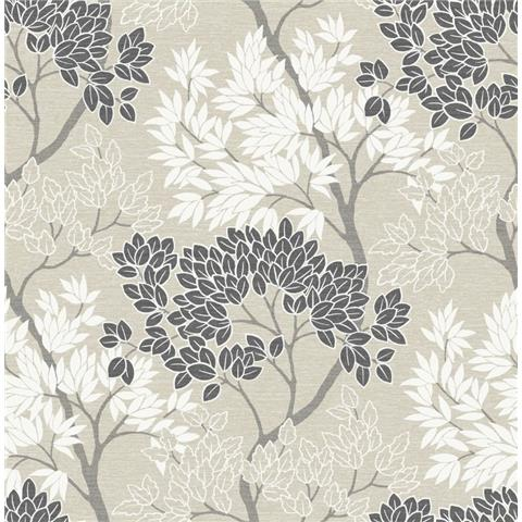 Graham and Brown Fresca Wallpaper lykke tree 107974 natural