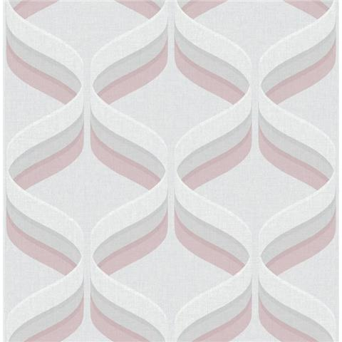 Graham and Brown Fresca Wallpaper Retro ogee 107976 pink