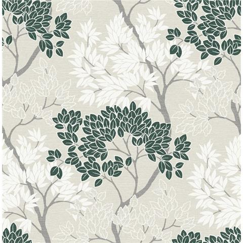 Graham and Brown Fresca Wallpaper lykke tree 108279 dark green