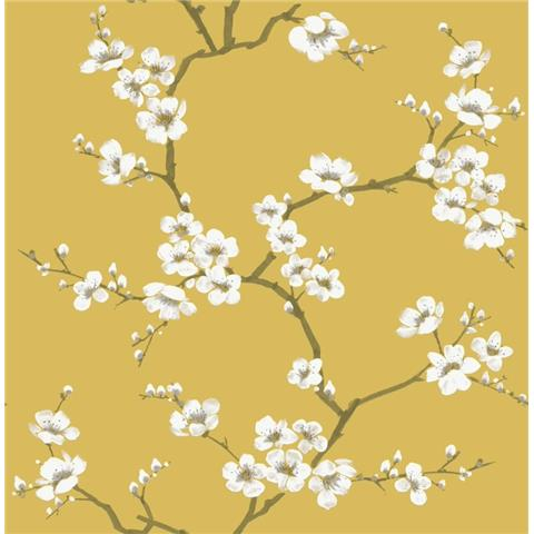 Graham and Brown Fresca Wallpaper Apple Blossom 108289 ochre