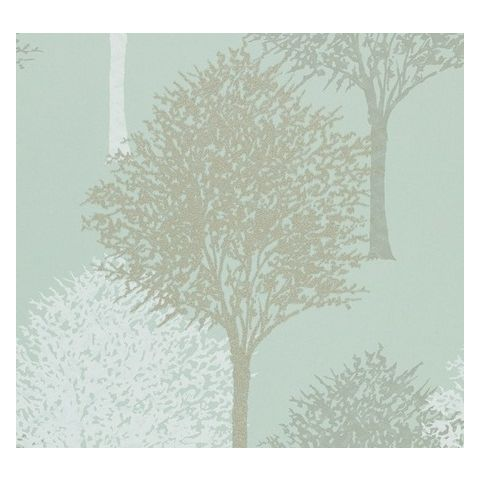 Harlequin Momentum Wallpaper Entice 110097 Silver Sparkle Blue and Duck Egg