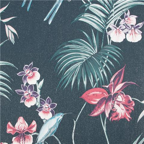 JULIEN MACDONALD Utopia exotic WALLPAPER 111781 navy