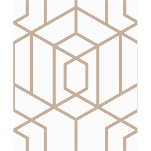 JULIEN MACDONALD Disco vogue trellis WALLPAPER 112090 pearl