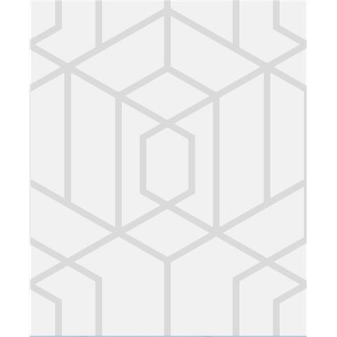 JULIEN MACDONALD Disco vogue trellis WALLPAPER 112091 silver