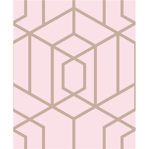 JULIEN MACDONALD Disco vogue trellis WALLPAPER 112092 pink