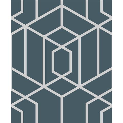 JULIEN MACDONALD Disco vogue trellis WALLPAPER 112093 navy