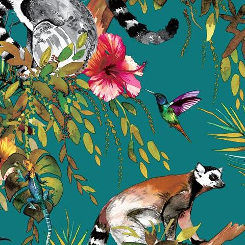 Holden Statement Feature Wallpapers Lemur 12402 Teal