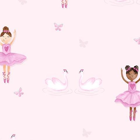 Make Believe Wallpaper-Ballerina 12460 Pink