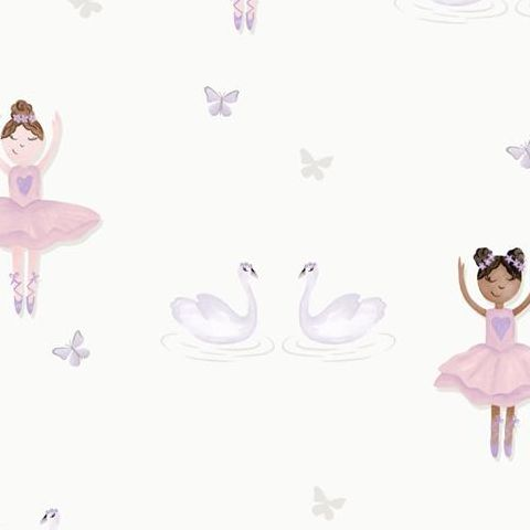Make Believe Wallpaper-Ballerina 12461 Cream/Pink