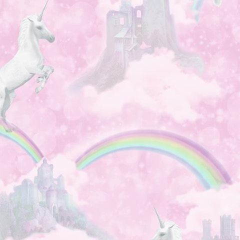 Make Believe Wallpaper-I Believe in Unicorns 12480 Pink