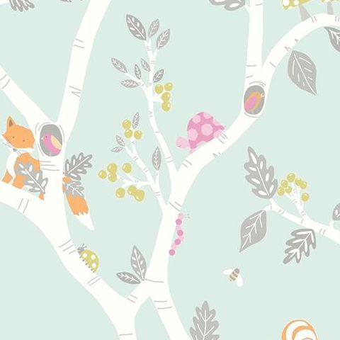 Make Believe Wallpaper- Woodland Adventure 12490 Teal