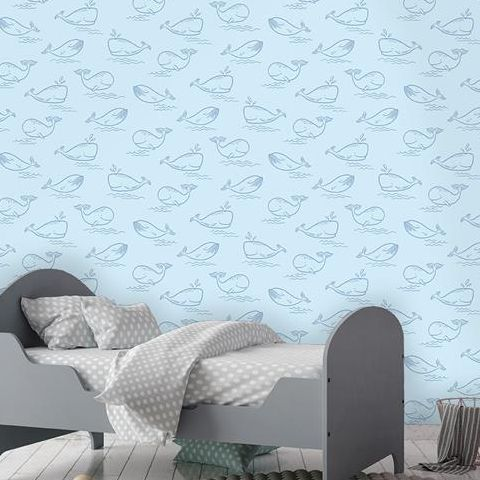 Holden Decor Make Believe Wallpaper- Whale of a Time 12520 Blue