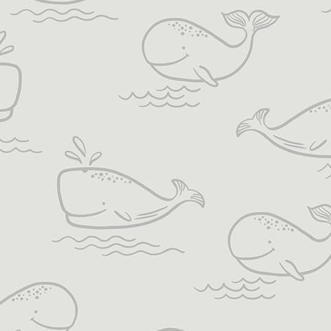 Make Believe Wallpaper- Whale of a Time 12521 Grey