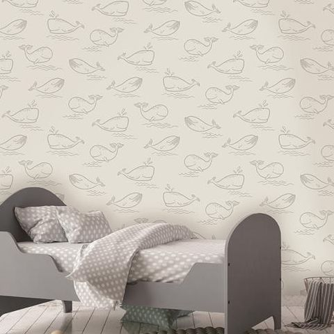 Holden Decor Make Believe Wallpaper- Whale of a Time 12521 Grey