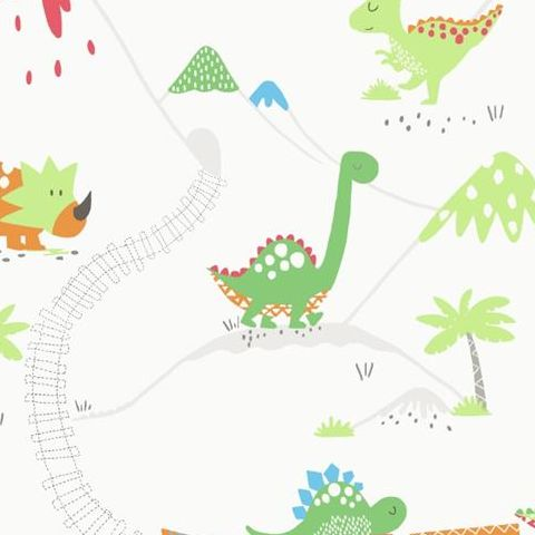 Make Believe Wallpaper- Dino Time 12530 Multi