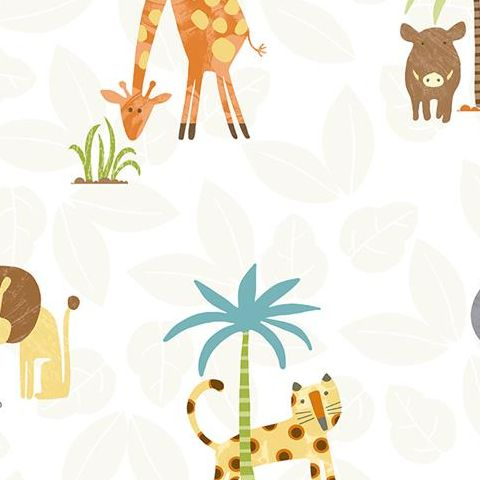 Make Believe Wallpaper- Jungle Friends 12541 Multi
