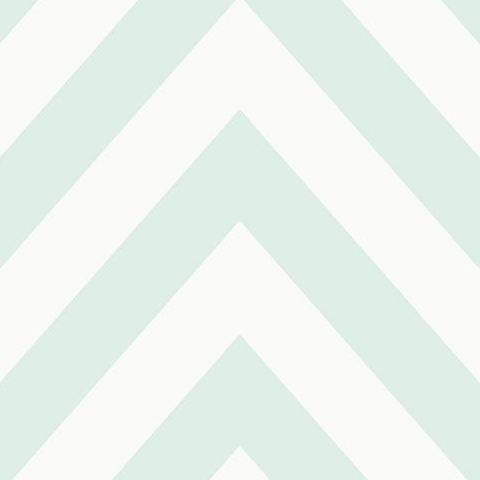 Make Believe Wallpaper- Chevron 12570 Soft Teal