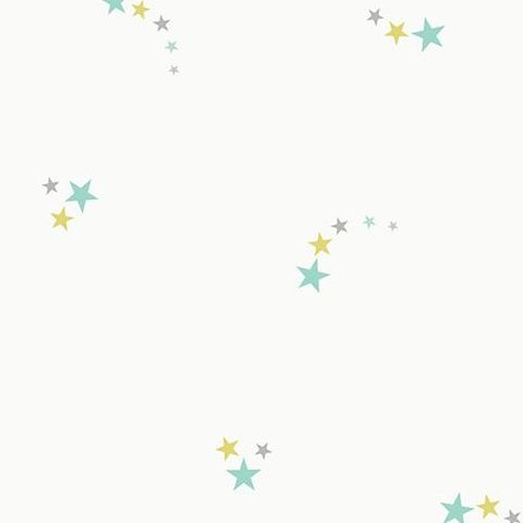 Make Believe Wallpaper- Shooting Star 12592 Soft Teal