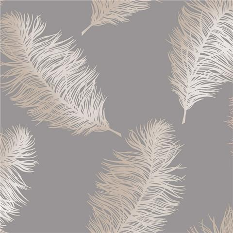 STATEMENT FEATURE WALLPAPER-FAWNING FEATHER 12629