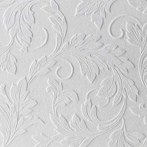 Super Fresco Paintable Wallpaper Large Scrolling Leaf 15069