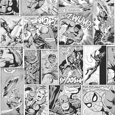 Marvel Action Heroes Comic strip wallpaper 159502 Black and White