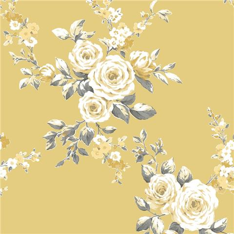 Catherine Lansfield Canterbury Shabby Chic Floral Wallpaper 165501