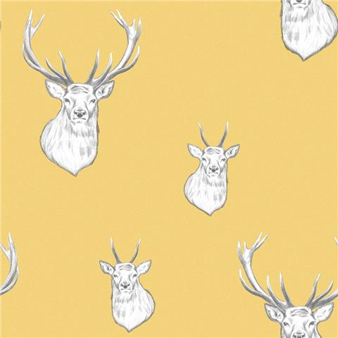 Catherine Lansfield Stag Wallpaper 165510
