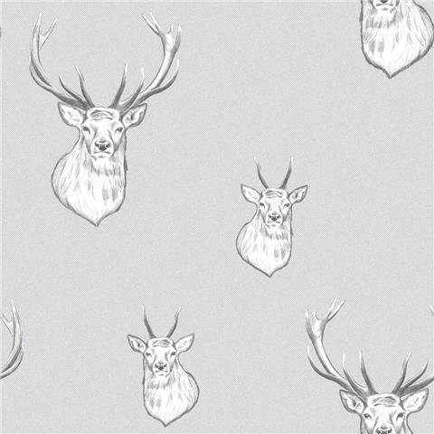 Catherine Lansfield Stag Wallpaper 165511