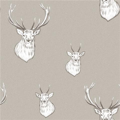 Catherine Lansfield Stag Wallpaper 165512