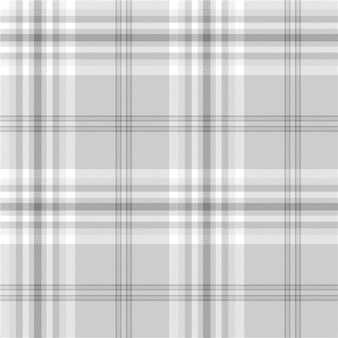 Catherine Lansfield Kelso Check Plaid Wallpaper 165521