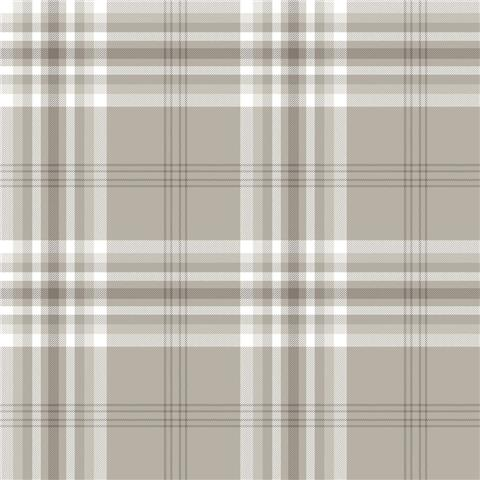 Catherine Lansfield Kelso Check Plaid Wallpaper 165522