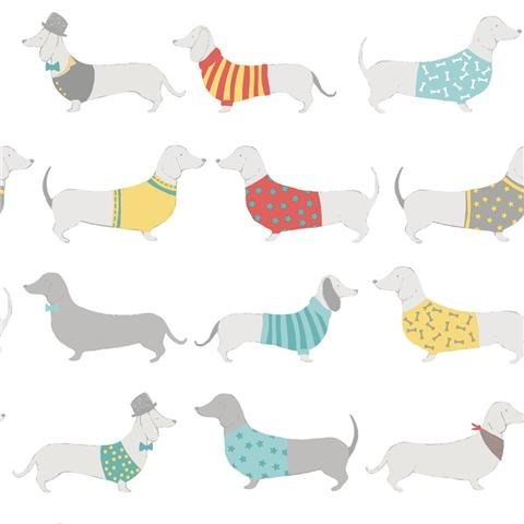 Catherine Lansfield Sausage Dog Wallpaper 165531
