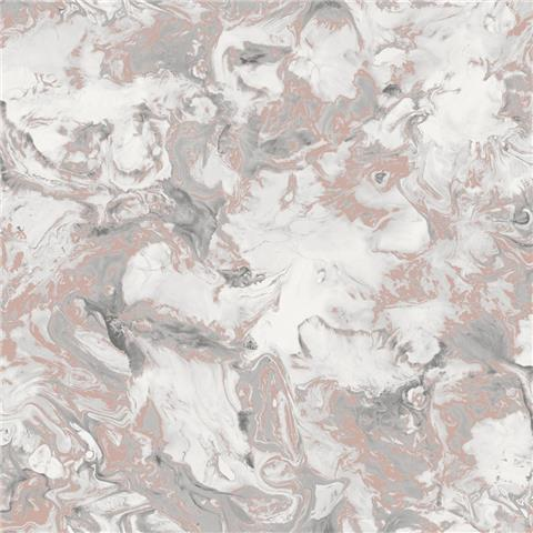 Muriva Elixir Metallic Marble Wallpaper 166502 Rose Gold