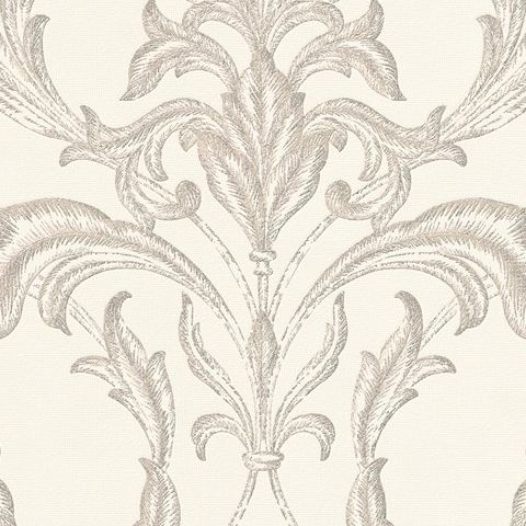 Graham and Brown Vinyl Wallpaper Oxford 20-848 Pearl/Taupe