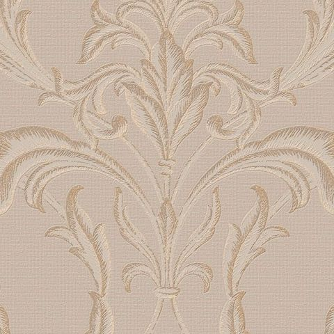 Graham and Brown Vinyl Wallpaper Oxford 20-850 Beige/Gold