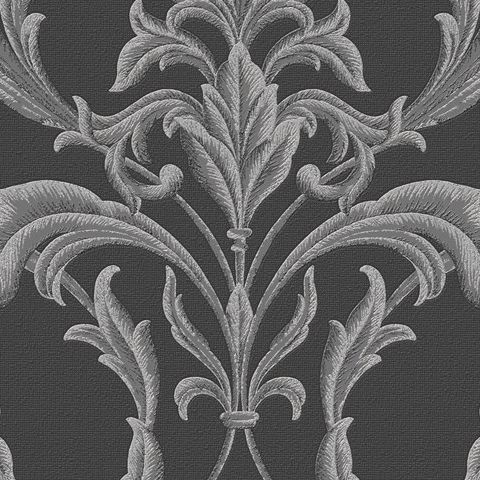 Graham and Brown Vinyl Wallpaper Oxford 20-853 Black/Silver