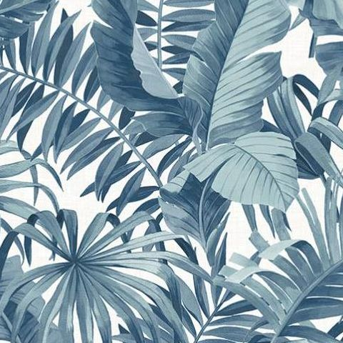Alfresco Tropical Palm Wallpaper 2744-24133 Blue