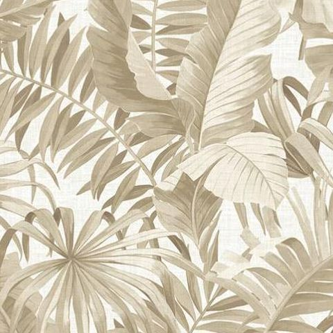 Alfresco Tropical Palm Wallpaper 2744-24135 Taupe