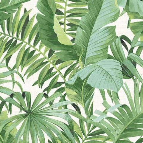 Alfresco Tropical Palm Wallpaper 2744-24136 Green