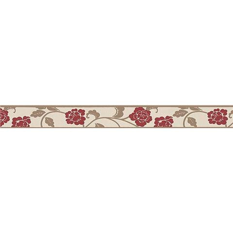 Self Adhesive Textured Border 2820-19 red