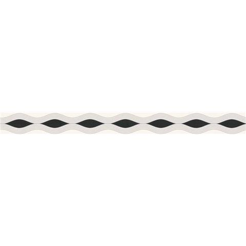 Self Adhesive Textured Border 2822-17 Black/White