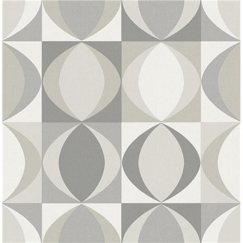 A Street Prints Archer Retro style wallpaper FD25843 grey