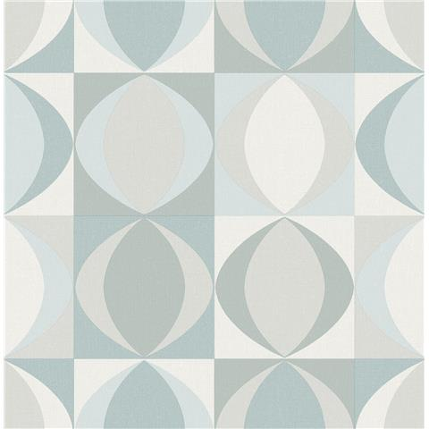 A Street Prints Archer Retro style wallpaper FD25844 Duck Egg blue