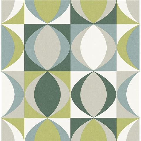 A Street Prints Archer Retro style wallpaper FD25845 Green/Blue